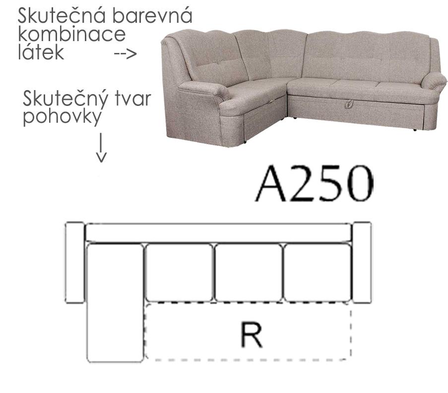 Sedacia súprava BONDY, rohová, čalúnenie 722 - A250- AKČNÁ SEDAČKA