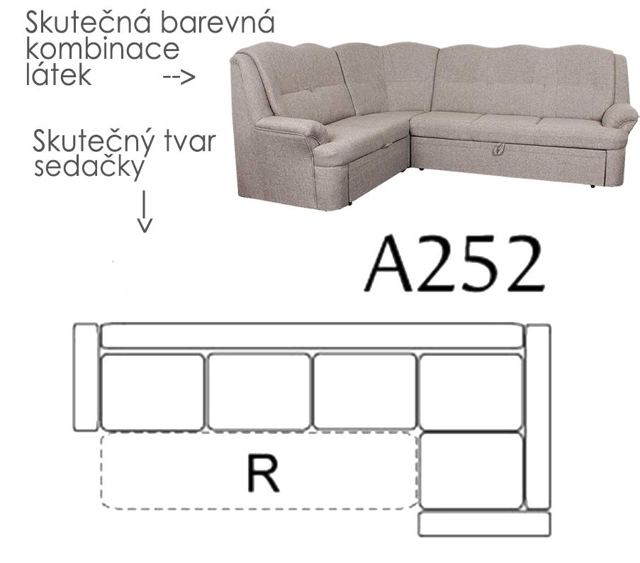 Sedacia súprava BONDY, rohová, čalúnenie 722 - A252 - AKČNÁ SEDAČKA