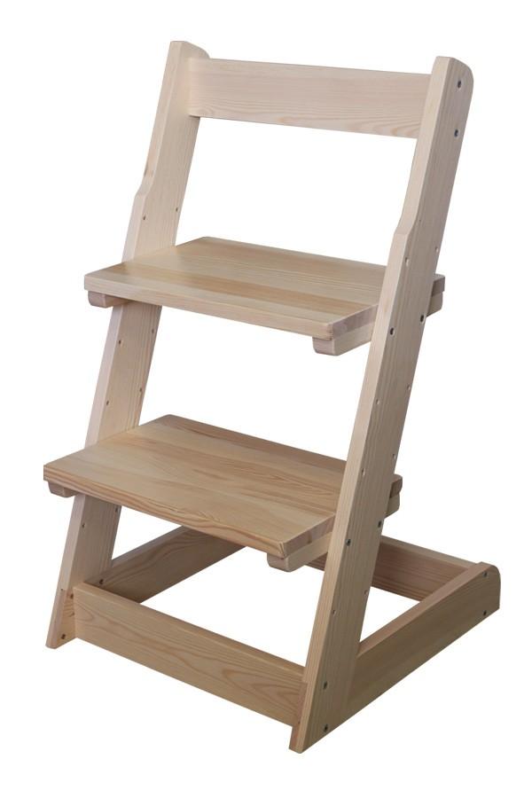 Detská stolička, celodrevená polohovacie - B162