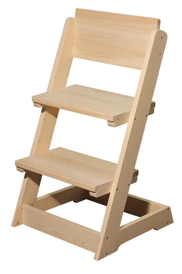 Detská stolička, celodrevená polohovacie - B163