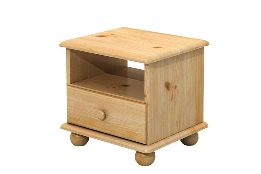 Nočný stolík, masív borovica - B201