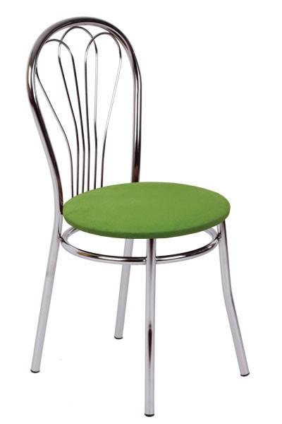 Jedálenská stolička KVĚTA, chrómovaná - Z83