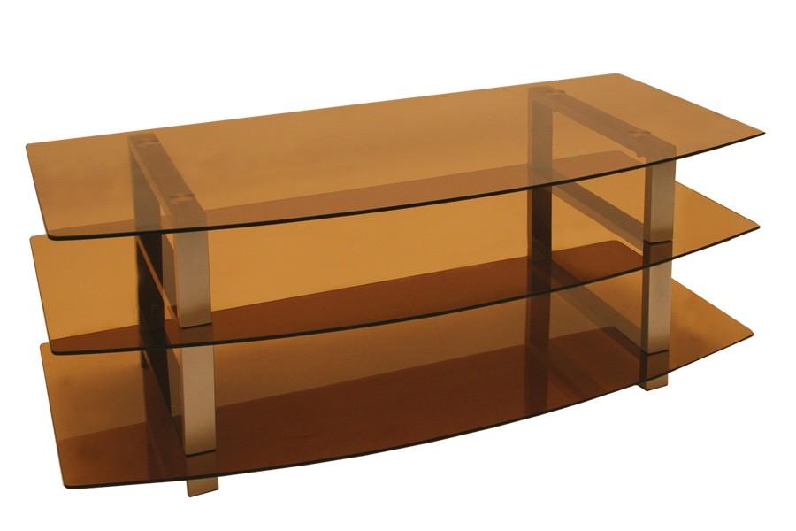 TV stolík LCD, sklo dymové / 2ks bal./ - T82