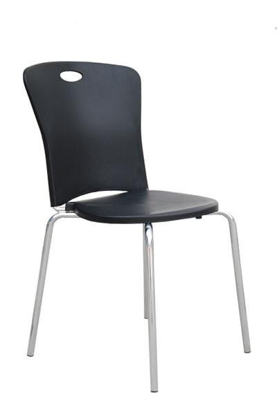Stolička ESTER, chróm - plast - Z603