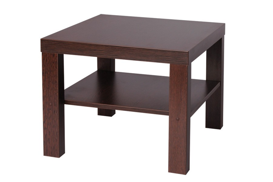 Konferenčný stolík lubka, štvorcový, police - K116