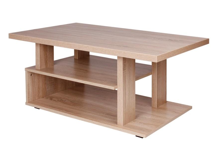 Konferenčný stolík ARTUR, obdĺžnik, police a podstavec - K120