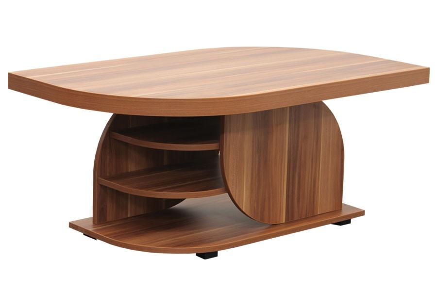 Konferenčný stolík DAN, obdĺžnik, police a kolieska - K125