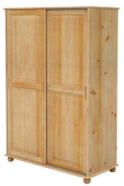 Šatníková skriňa dvojdverová, zasúvacie dvere - B227