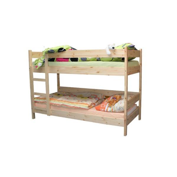 Poschodová posteľ 90 x 200, masív smrek - B481
