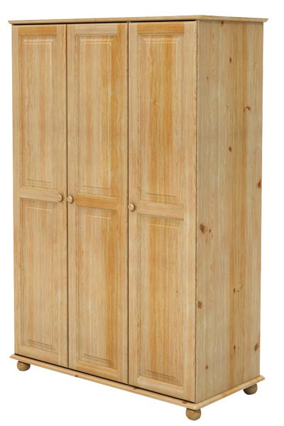 Šatníková skriňa trojdverová, masív smrek - B825