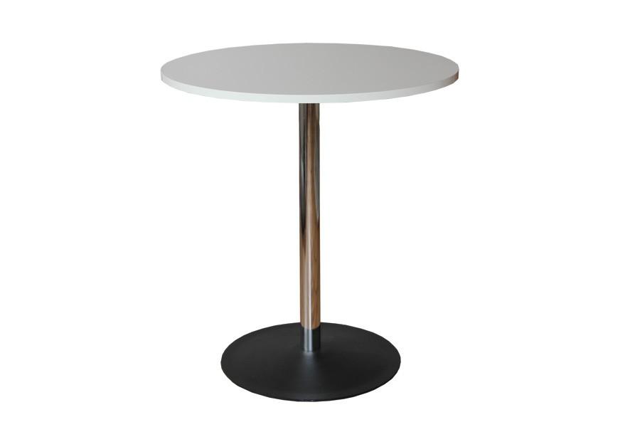 Jedálenský stôl okrúhly, chrómované nohy - S142