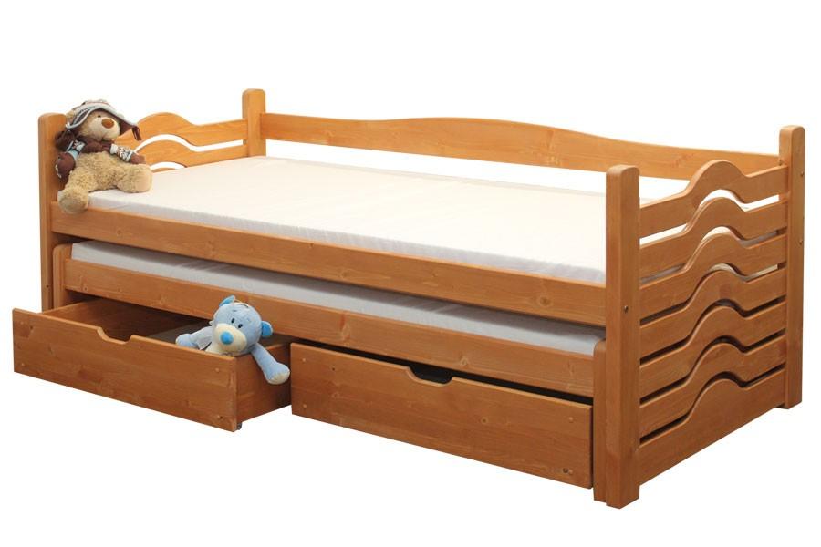 Detská posteľ IVANKA, dvojposteľ (posteľ s prístelkou) - B431-90x200