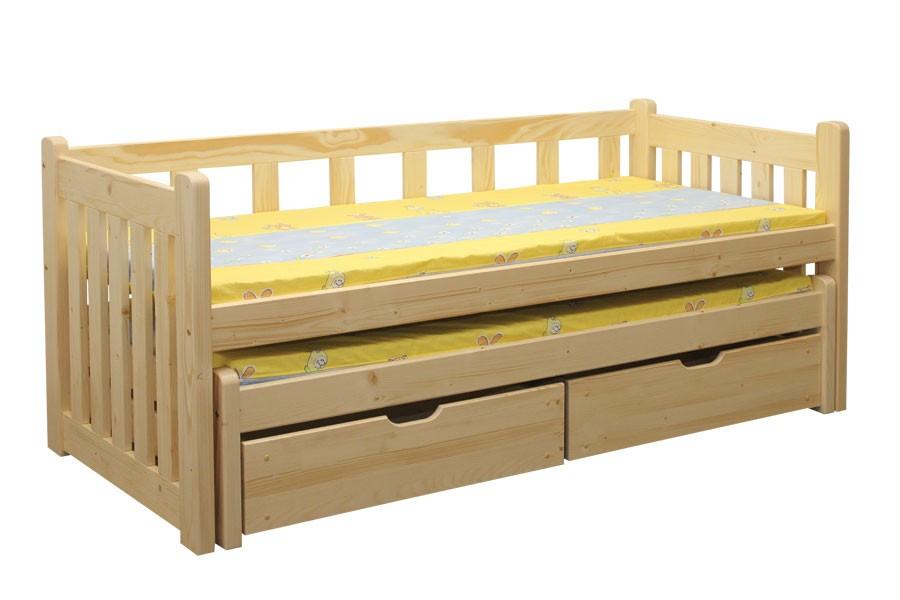 Detská posteľ Lucinka, dvojposteľ (posteľ s prístelkou) - B432-90x200