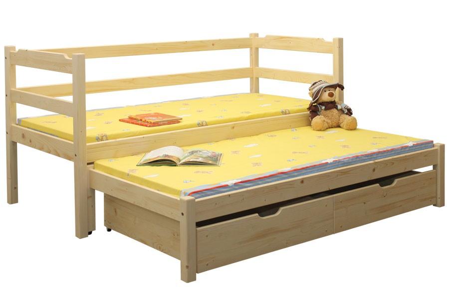 Detská posteľ Maruška, dvojposteľ (posteľ s prístelkou) - B434-90x200