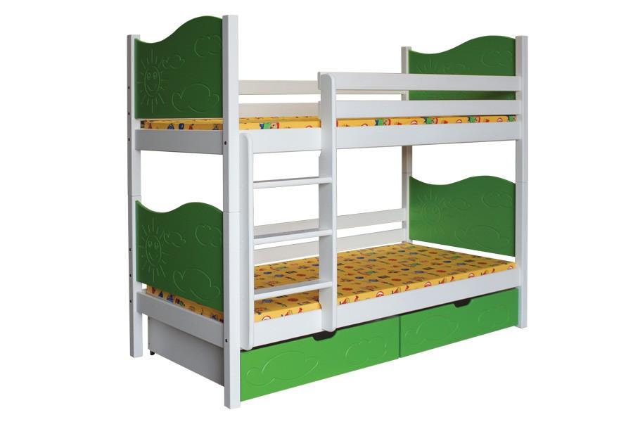Poschodová posteľ NICOLAS (základné prevedenie) - B412-80x180