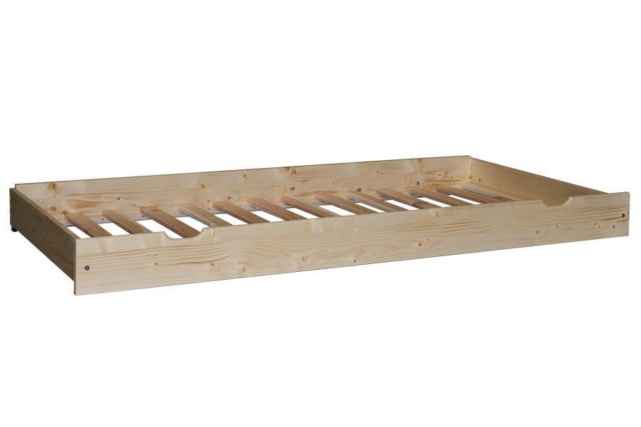 Prístelka pod posteľ 90, masív borovica-rošt - B473