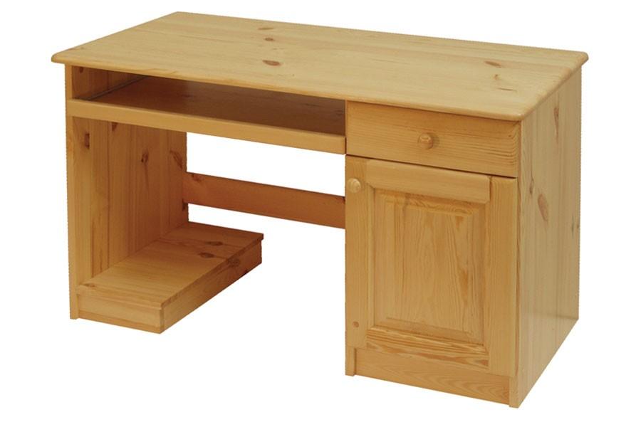 Písací stôl, dvierka + 1zásuvka, smrek - B742