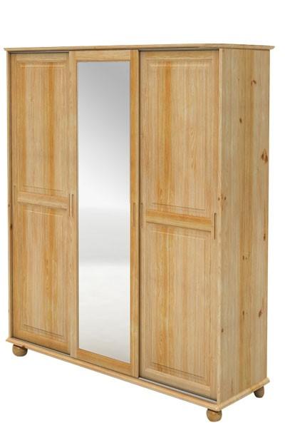 Skriňa s posuvnými dverami, trojdverová so zrkadlom - B841