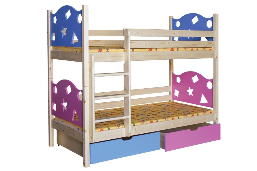 Poschodová posteľ VALENTÍN - B413-90x200