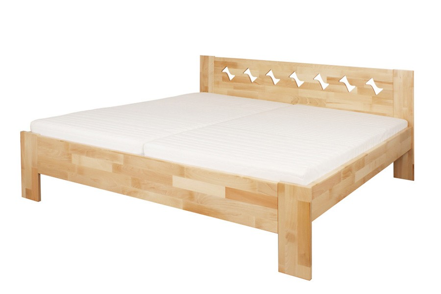 Manželská posteľ BÁRA 180 x 200, masív buk - L049