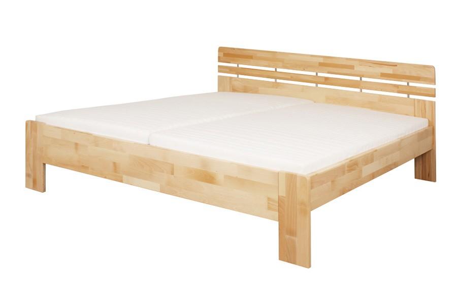 Manželská posteľ DANIELA 180 x 200, masív buk - L046