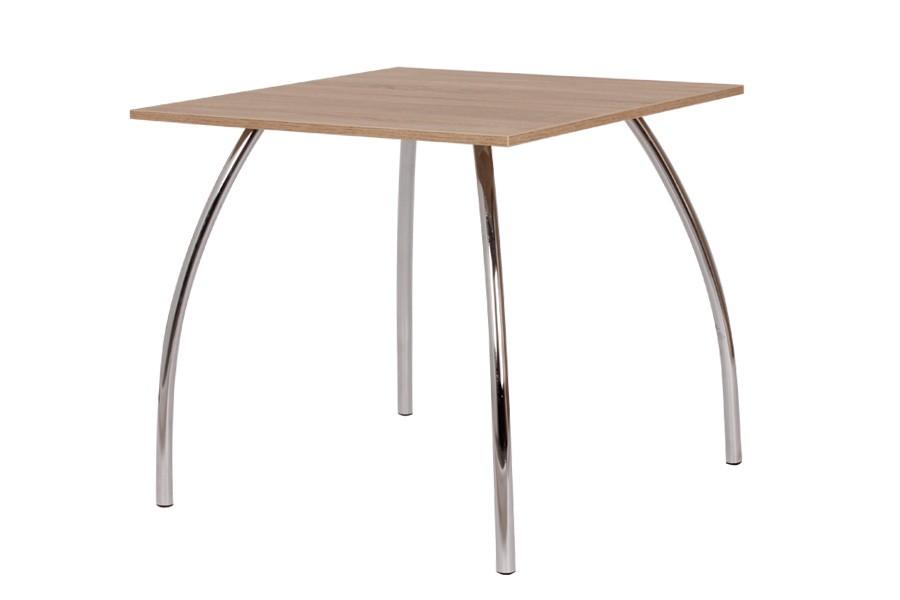 Jedálenský stôl DAKO Aj 80x80, nohy chróm - S145