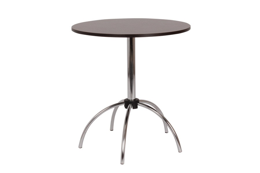 Jedálenský stôl Vilko, priemer 70, nohy chróm - S149