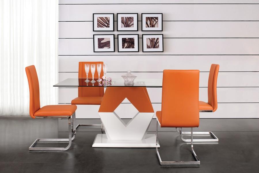 Jedálenský stôl Valy 160x90, MDF + sklo - S90