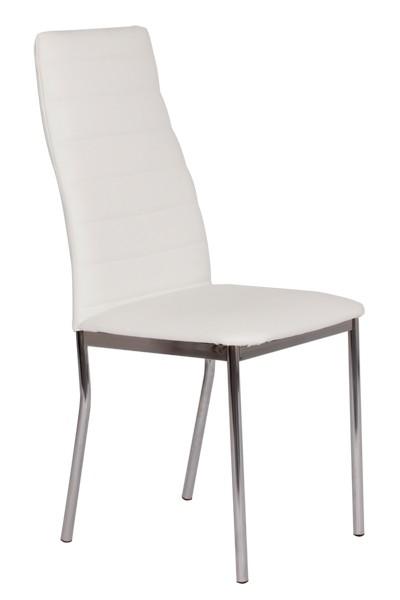 Jedálenská stolička LADA, čalúnená, nohy chróm - Z139