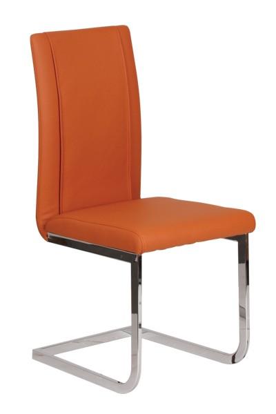 Jedálenská stolička VENUS, čalúnená, nohy chróm - Z402