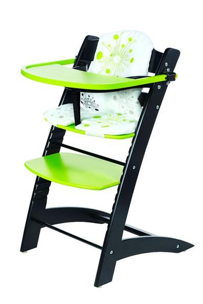 Stolička detská rastúci čierno / zelená - Z522