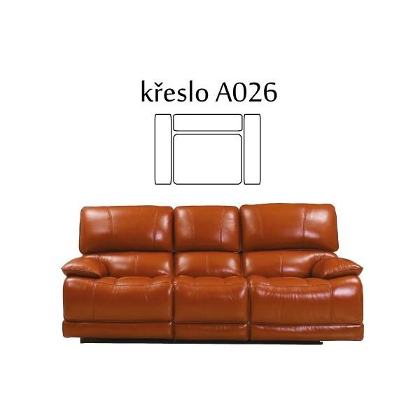 Relaxačné kreslo JESSICA, kožené polohovacie - A026