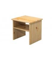 Nočný stolík, masív borovica - B011