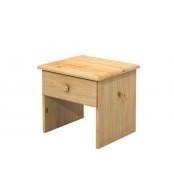Nočný stolík 1 zásuvka, masív borovica - B012