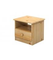 Nočný stolík, masív borovica - B018