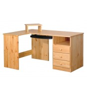 Písací stôl rohový, 3 zásuvky - B041