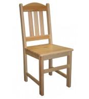Jedálenská stolička celodrevená MILUŠE, masív borovica - B161