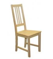 Jedálenská stolička celodrevená ZINA, masív borovica - B164