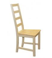 Jedálenská stolička celodrevená MINA, masív borovica - B166