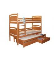 Poschodová posteľ, trojpostel Davídek (základné prevedenie) - B409-80x180