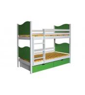 Poschodová posteľ NICOLAS - B412-90x200