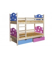Poschodová posteľ VALENTÍN (základné prevedenie) - B413-80x180