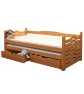 Detská posteľ IVANKA, dvojposteľ (posteľ s prístelkou) - B431-80x180