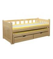 Detská posteľ Lucinka, dvojposteľ (posteľ s prístelkou) - B432-80x180
