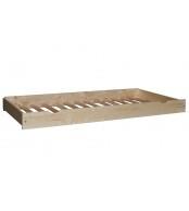 Prístelka pod posteľ 90, smrek biela + rošt - B474