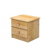 Nočný stolík 2 zásuvky, masív smrek - B701