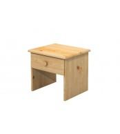 Nočný stolík 1 zásuvka, masív smrek - B712