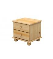 Nočný stolík 2 zásuvky, masív smrek - B801