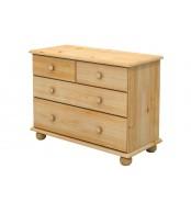 Komoda 2 + 2 zásuvky, masív smrek (voľba farby dreva) - B834