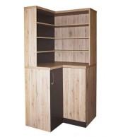 Rohová knižnica CASPER s úchytkou - C147